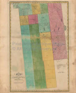 Franklin County New York Antique Map Burr 1829 Original