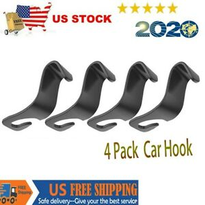 Car Seat Front Back Headrest Hooks Simple Coat Purse Bag Hanger Organizer Holder