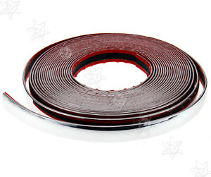 New 20mm X 15m Chrome Styling Moulding Trim Strip For Cars Vehicles 49ft