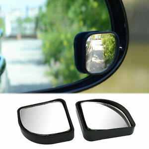 Fan Shaped Adjustable Rear View Blind Spot Auxiliary Convex Angle Mirrors Kit