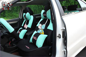20pc Set New Cute Cartoon Universal Car Seat Covers Car Cushion Seat Covers V02