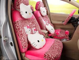 1 Sets Cartoon Hello Kitty Universal Seat Covers Car Cushion Accessory Red Tl19