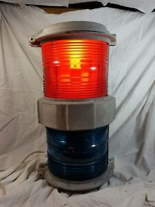 Vtg Large Marine Bridge Navigation Span Light Red Green Lantern B