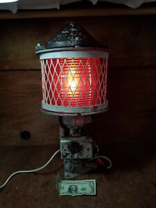 Vtglarge Marine Bridge Navigation Pier Light Nautical Red Lantern B