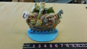 Vintage Heavy Cast Iron Metal Noah S Ark Doorstop Bookend