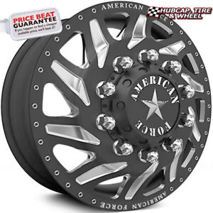 American Force Psycho 24 x8 25 Black Dually Wheel set Of 6 forged