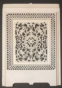 Antique 19 X 26 Ornate Fireplace Cover Screen Architectural Cast Iron Nice