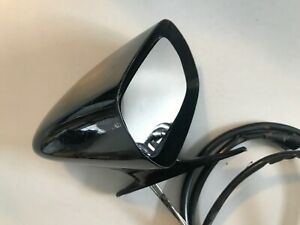 Single Universal Vintage Black Classic Style Car Door Side View Mirror Used