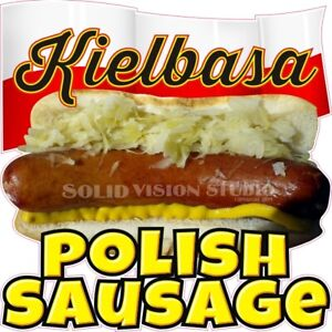Kielbasa Polish Sausage Concession Trailer Food Cart Hot Dog Truck Vinyl Decal