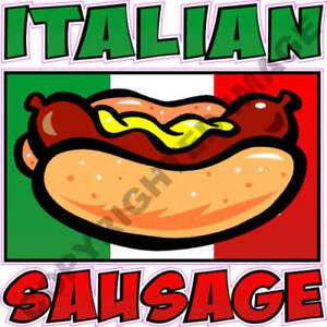 Italian Sausage Flag Concession Trailer Hot Dog Cart Food Truck Vinyl Decal