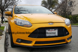Front Bumper Add On Bottom Line Carbon Fiber Lower Lip For 12 14 Ford Focus St