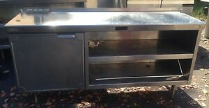 Stainless Steel Heavy Duty Prep Work Worktop Cabinet With Shelf Cabinet