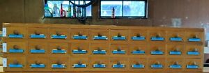 Vintage Primitive Style 30 Drawer Apothecary Spice Cabinet