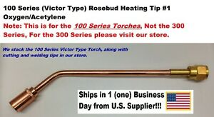 Heating Nozzle Rosebud Tip 1 For Victor victor type 100 Series Torches