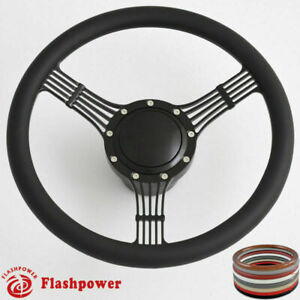 Banjo 15 5 Black Billet Steering Wheel Full Wrap W Horn Button Adapter