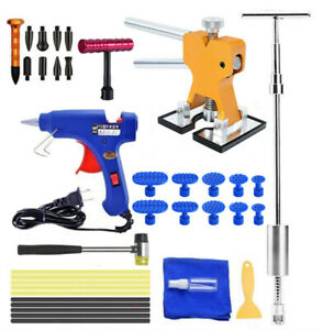 Auto Body Paintless Dent Repair Removal Puller Lifter Glue Sticks Kit