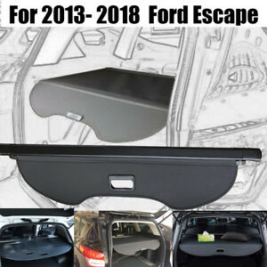 Retractable Trunk Luggage Shade Black Cargo Cover Blind For2013 2019 Ford Escape