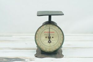 Rare Vintage Eveready Family Counter Scale Green Kitchen Scale 24 Pound Scale