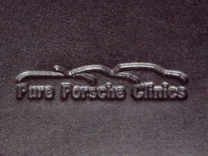 Genuine Full Leather Mini pure Porsche Clinics Notebook W Carrera Cup Pen