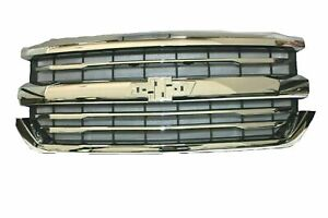 2016 2018 Chevrolet Silverado 1500 Chrome Grille 84056776 Ltz High Country Oem