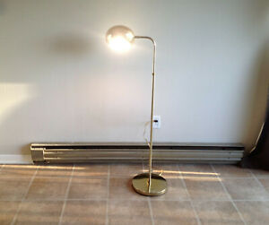 Mid Century Modern Gold Ufo Orb Floor Lamp Elegant Vintage Decor Office Home