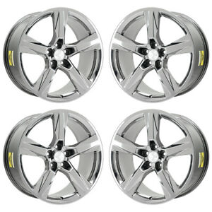20 Chevrolet Camaro Ss Pvd Chrome Wheels Rims Factory Oem Set 5760 5764