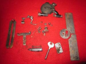 Vintage Misc Parts From A Montgomery Wards Treadle Sewing Machine