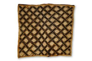 Beautiful Authentic Hand Woven Kuba Cloth 22 Drc African Art