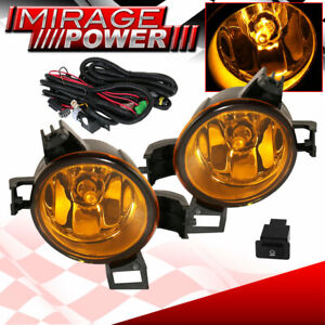 For 2005 2006 Nissan Altima Driving Yellow Bumper Fog Lights Replacement Jdm