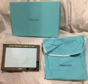 Tiffany Co Silver Picture Frame 3 X 4 1 2 Engraved Bu School Of Law 1997