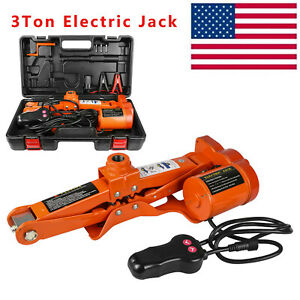 3 Ton Electric Jack Dc 12v All In One Lift Scissor Jack Car Repair Tool Us Stock