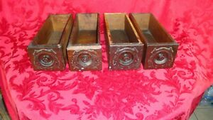 Vintage Sewing Machine Drawers Lot Of 4 Wood Singer 1896