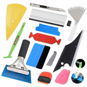 12in1 Car Window Tint Vinyl Film Install Wrapping Tools Micro Squeegee Knife Kit