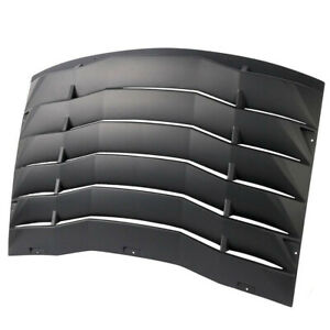Fits 11 20 Dodge Charger Rear Window Louver Cover Vent Black Abs