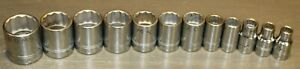 Williams Shallow Socket 12 Piece 3 8 Inch Drive Metric 12 Point 8mm 24mm