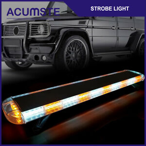 Amber White 47 88 Led Emergency Warn Flash Truck Strobe Light Tow Bar Roof Top