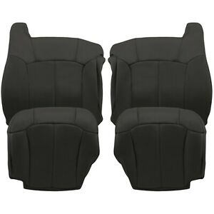 1999 2000 2001 2002 Chevy Silverado Gmc Sierra Seat Covers Dark Graphite Gray