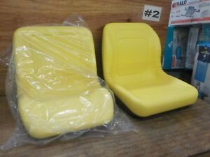 Two 2 New Yellow John Deere Gator Lawn Garden Seats 4x2 6x4 Milsco Usa Made