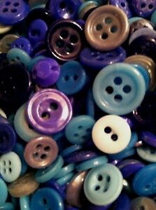 Lot Of 150 China Buttons Antique Vintage Assorted Blues