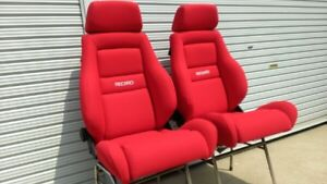 Upholstery Only Recaro Ls c Vw Golf Mk2 Seats Red Fabric New 2 Seats
