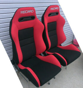 Upholstery Only Recaro Sr 3 Seats Fabric Black And Red New 2 Seats