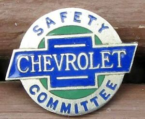 Rare Original Nos Chevrolet Cloisonne Safety Committee Pin Nice L K 966