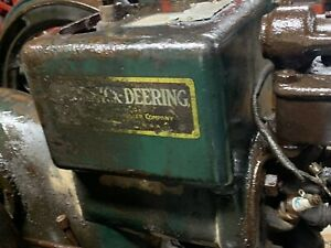 1 5 Hp Mccormick Deering M Barn Fresh Hit Miss Ihc Engine