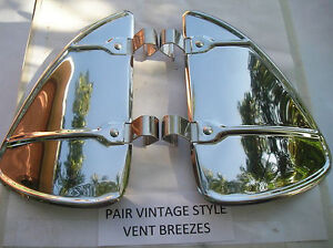 New Pair Of Vintage Style Stainless Steel Air Vent Deflectors