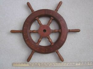 Vintage Wooden Ships Wheel 24 1 2 Nautical Maritime Boat Steering Wall Decor