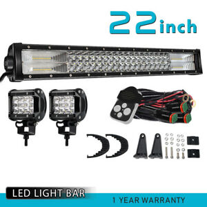 22 Inch 306w Led Light Bar Spot Flood Driving For Fog Jeep Ford Atv Roof Suv