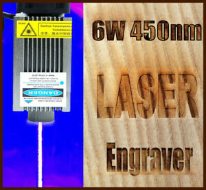 Pwm ttl 450nm 6w Focusable Blue Laser Module burning engraning Gift Goggles