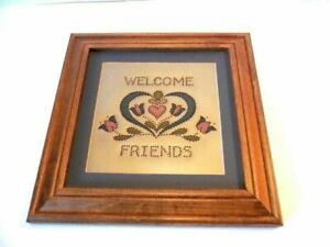 Tin Painted Pierced Tin Welcome Sign Neat Sale