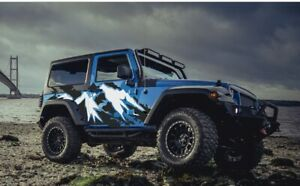 Mountain Summit jeep vinyl Decal Set For Wrangler Vehicles Custom Graphics
