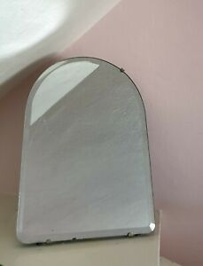 Vintage Bevilled Arch Table Vanity Dressing Table Mirror